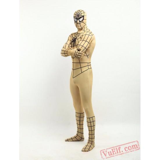 Golden Spiderman Zentai Suit - Spandex BodySuit | Costumes