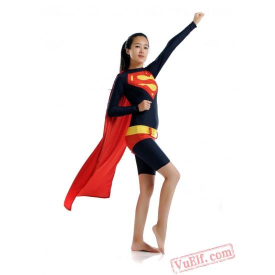 Superwoman Costumes - Lycra Spandex BodySuit | Zentai Suit