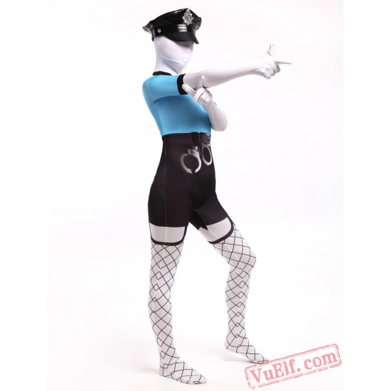 Policewoman Costumes - Lycra Spandex BodySuit | Zentai Suit