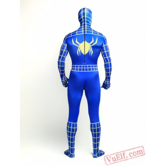 Blue Spiderman Zentai Suit - Spandex BodySuit | Costumes