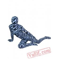 Zebra Pattern Fullbody Lycra Spandex BodySuit | Zentai Suit