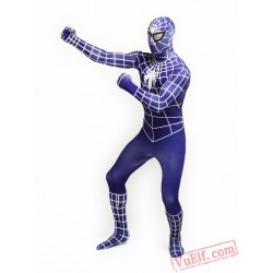 Blue Spiderman Zentai Suit - Spandex BodySuit | Costumes