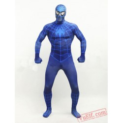 Deep Blue Spiderman Zentai Suit - Spandex BodySuit | Costumes