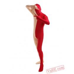 Pink Red Lycra Spandex BodySuit | Zentai Suit