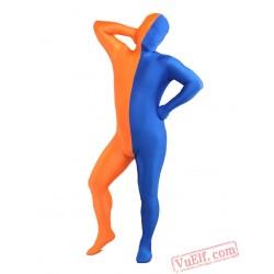 Funny Orange Blue Lycra Spandex BodySuit | Zentai Suit