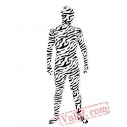 Zebra Zentai Suit - Spandex BodySuit   Full Body Costumes