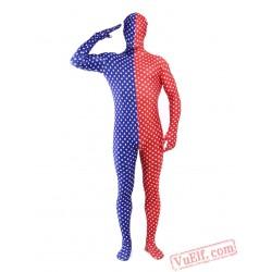 Polka Dot Lycra Lycra Spandex BodySuit | Zentai Suit