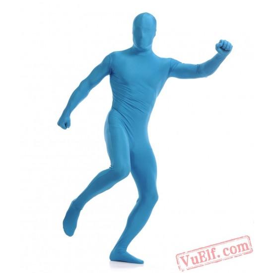 Funny Light Blue Lycra Spandex BodySuit | Zentai Suit