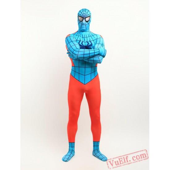 Orange spiderman Zentai Suit - Spandex BodySuit | Costumes