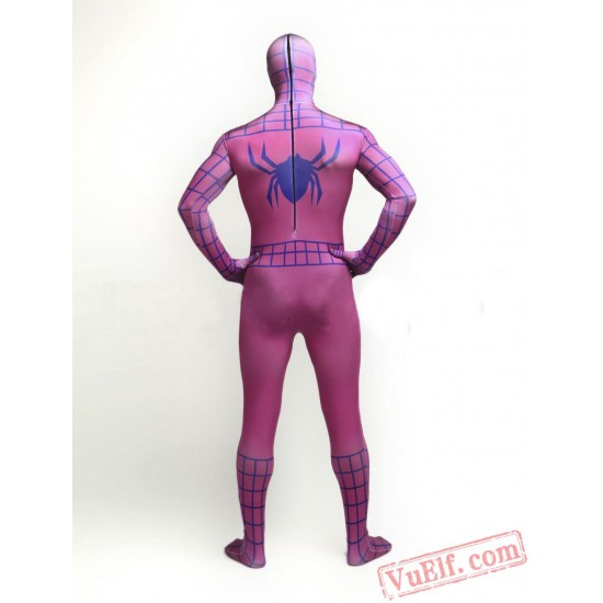 Pink Spiderman Zentai Suit - Spandex BodySuit | Costumes