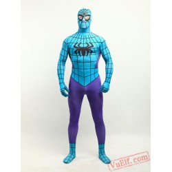 Purple Blue Spiderman Zentai Suit - Spandex BodySuit | Costumes