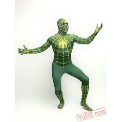 Green Spiderman Costumes - Zentai Suit | Spandex BodySuit
