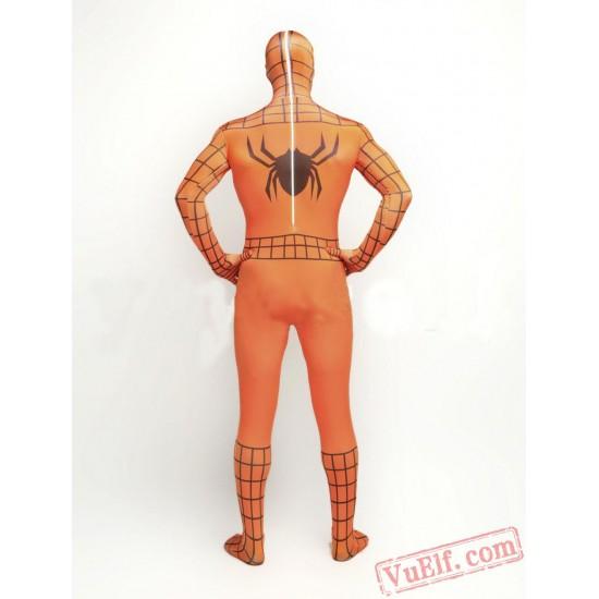 Orange Spiderman Costumes - Zentai Suit | Spandex BodySuit