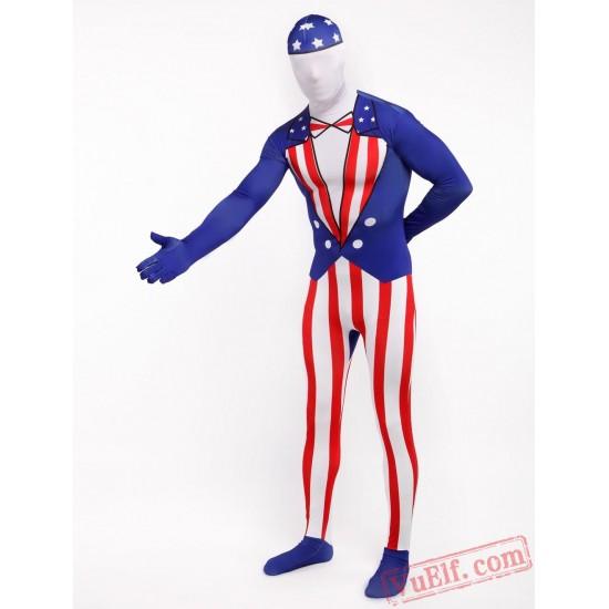 America Star-Spangled Lycra Spandex BodySuit | Zentai Suit