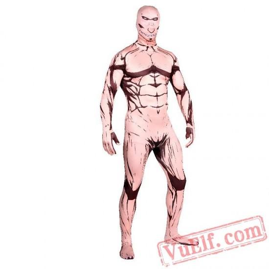 Attack on Titan Eren Jeager Costumes - Lycra Spandex BodySuit