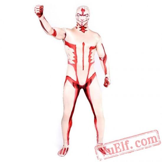 Attack on Titan Reiner Braun Costumes - Lycra Spandex BodySuit