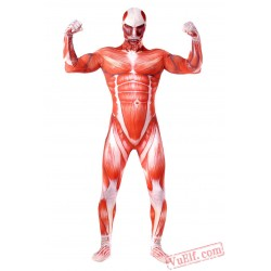 Attack on Titan Costumes - Lycra Spandex BodySuit | Zentai Suit