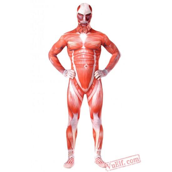 Attack on Titan Costumes - Lycra Spandex BodySuit | Zentai Suit