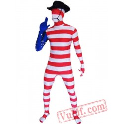 America Flag Zentai Suit - Spandex BodySuit | Full Body Costumes