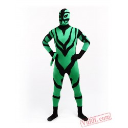 Spandex Green Black Animal Zentai Suit - Full Body Costumes