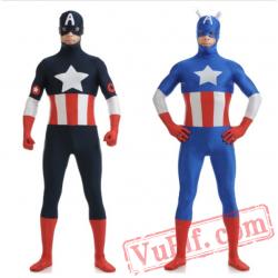 Captain America Costumes - Lycra Spandex BodySuit | Zentai Suit