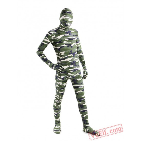 Cool Multicolour Lycra Spandex BodySuit   Zentai Suit