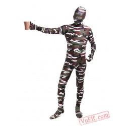 Funny Camouflage Lycra Spandex BodySuit | Zentai Suit
