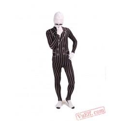 Funny Gentleman Costumes - Lycra Spandex BodySuit | Zentai Suit