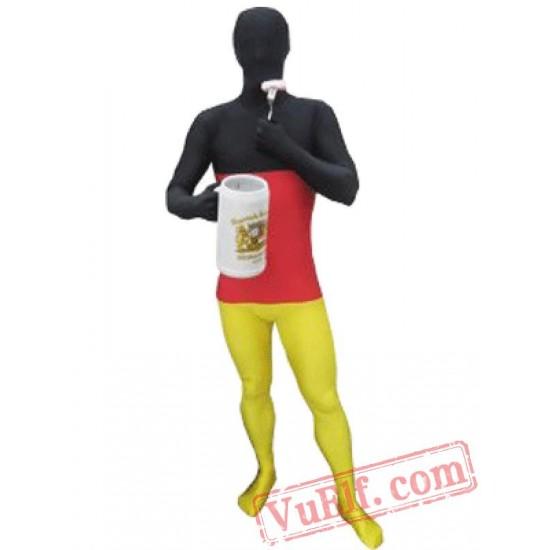 Flag of Germany Lycra Spandex BodySuit | Zentai Suit