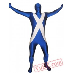 Flag of Scotland Lycra Spandex BodySuit | Zentai Suit