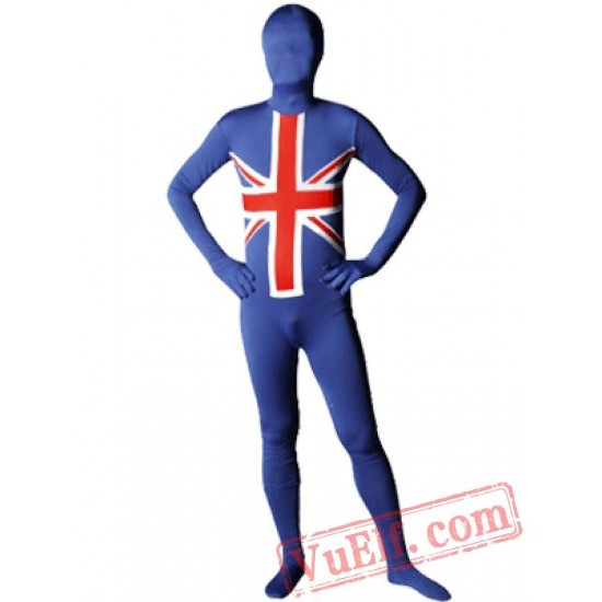 England Flag Zentai Suit - Spandex BodySuit | Full Body Costumes