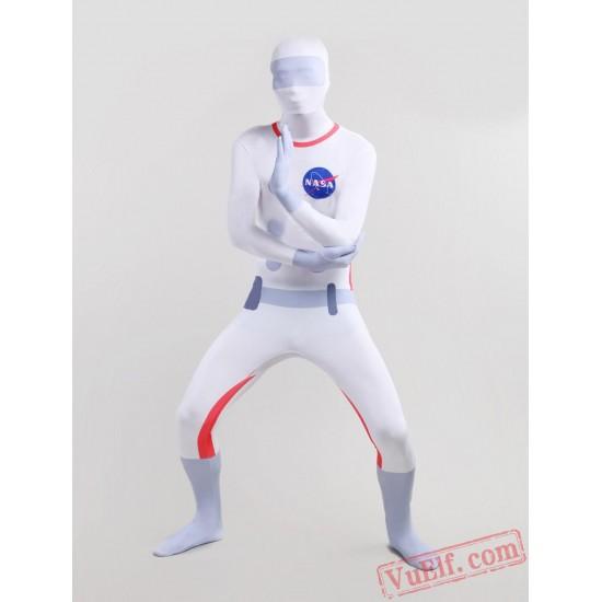 Astronaut Pattern Lycra Spandex BodySuit | Zentai Suit