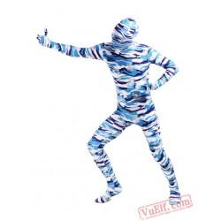 Blue Lycra Spandex BodySuit | Zentai Suit