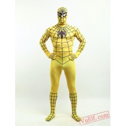 Yellow Spiderman Costumes - Lycra Spandex BodySuit | Zentai Suit