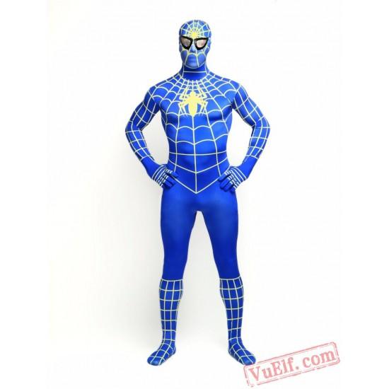 Blue Spiderman Lycra Spandex BodySuit   Zentai Suit