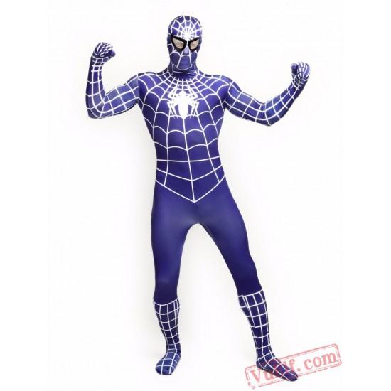 Blue Spiderman Costumes - Lycra Spandex BodySuit | Zentai Suit