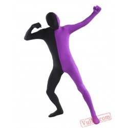 Funny Black Purple Lycra Spandex BodySuit | Zentai Suit